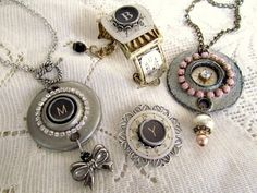Awesome jewelry from repurposed salvage hardware. I'm not sure I'm this creative, but I'd sure like to be!