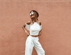 Top: mexiquer blogger off the shoulder off the shoulder white all white everything white pants white