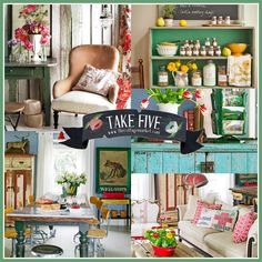 Take 5:  Decorating with Vintage
