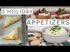 3 Vegan Holiday Appetizers | Artichoke Dip | Vegan Spanakopita | Mushroom Crostini | The Edgy Veg - YouTube