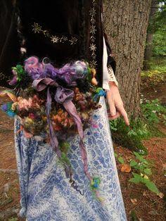 RESERVED  handknit shoulder bag rustic fairytale by beautifulplace
