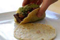 homemade soft tacos with Einkorn flour tortillas