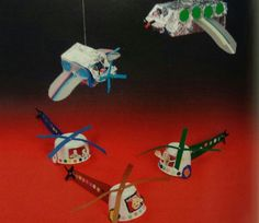 3d knutsel: helikopter en vliegtuig