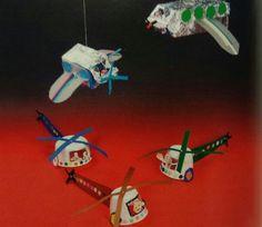 Ruimtelijke knutsel: vervoer helikopter en vliegtuig
