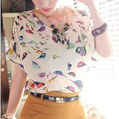 Buy 'Munhome – Bird- Print Chiffon Top' with Free International Shipping at YesStyle.com. Browse and shop for thousands of Asian fashion items from China and more!