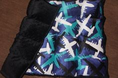 all minky airplane weighted lap pad www.etsy.com/shop/threehighchairs