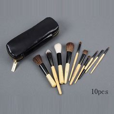 $24.34 bobbi brown 10 pieces of brushes set with black pouch