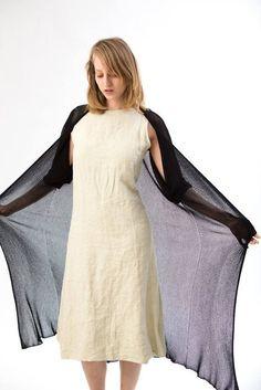 b130b184861ae7 Black Long Cardigan Knitting ,Black Summer fashion, Black knit Jacket  ,women sweater blouse