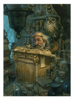 Old Goblin 2D traditional fantasy oil painting by master artist jbmonge (Jean-Baptiste Monge) of Montreal, Canada!!!