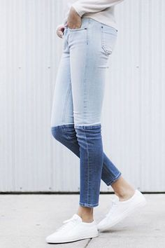 (37) Fancy - Colorblock Skinny Jeans