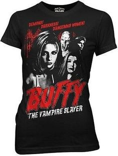 Buffy the Vampire Slayer Cult Poster TV Movie Womens Fitted T Shirt