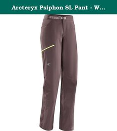 Arcteryx Psiphon SL Pant - Women's Mirage 4. FEATURES of the Arcteryx Women's Psiphon SL Pant Cresta stretch woven nylon fabric provides comfort and mobility, abrasion resistance and air permeability for thermal regulation Articulated patterning and gusseted crotch for mobility and freedom Low profile metal hook waist adjuster comfortably fits under harnesses Hand pockets with mesh liners for increased airflow Two rear pockets, one open and one with a security zipper Zippered thigh pocket...