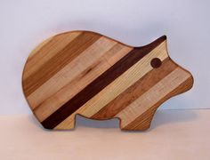 Pig Cheese Cutting Board Handcrafted from Mixed by tomroche, $15.00