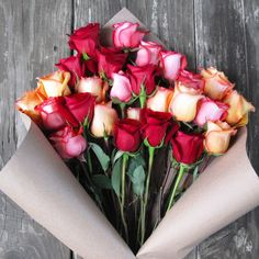 The Bouqs Volcano Collection 'Sunfire' Deluxe Rose Bouquet - Overstock™ Shopping - Great Deals on Rose Bouquets #mothersday