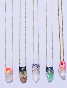 bright crystal pendants