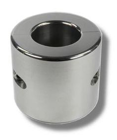 Hodenring Ballstretcher aus poliertem Edelstahl 70 mm hoch, Innen 45 mm, 2 kg schwer