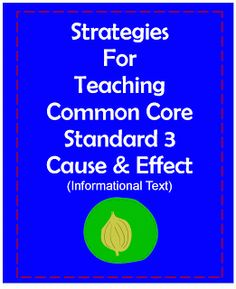 Click the image for strategies that can be used to teach Common Core Standard RI.3.  Cause and Effect for Informational Text