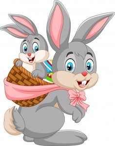 Easter bunny carrying basket of baby rabbit Vector Image Happy Easter, Easter Bunny, Rabbit Vector, Bunny Images, Bunny Face, Art Drawings For Kids, Chocolate Bunny, Easter Parade, Coloring Easter Eggs