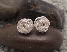 Sterling silver rose shaped earrings £15.00