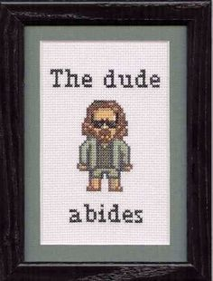 I would learn to cross stitch for this.