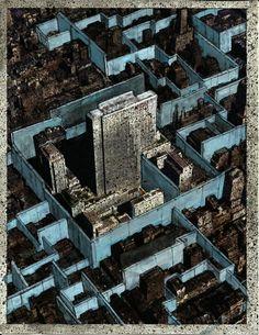 drawingsformanhattan: Jeff Konigsberg |  9. Drawings for Manhattan / City States #4 | 2013