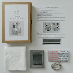 sew your own drawstring bag sewing kit patchwork by sotakhandmade