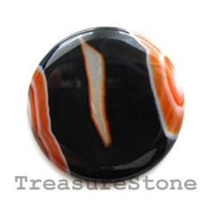 #Cabochon, agate (dyed), 40mm round. #TreasureStone Beads Edmonton.