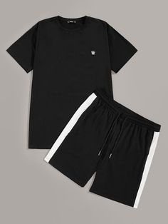 Dope Outfits For Guys, Cute Swag Outfits, Boy Outfits, Bermuda Short, Streetwear Shorts, Smart Casual Menswear, T Shirt And Shorts, Men Shorts, Denim Jacket Men
