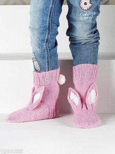 """Children's knitted socks """"Bunny"""""""