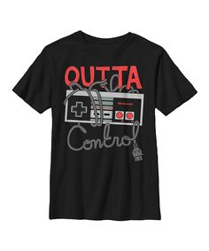 Look at this Black Nintendo 'Outta Control' Tee - Men's Regular on #zulily today!