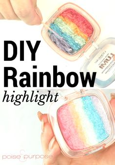 I love my rainbow highlighter I made using this tutorial from Poise and Purpose!