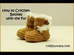 Crochet ** Booties with the Fur ** With Special Thanks to an YouTube Tutorial by…