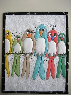 """Birds on a Wire"" by mamacjt on Flikr. Link to her blog here:http://mamacjt.blogspot.com/2011/01/its-been-good-week.html"