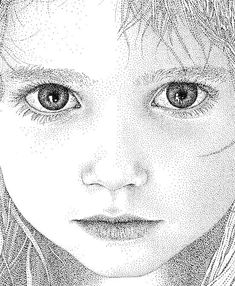 Pointillism is the style of choice for talented Spanish artist and creative director Pablo Jurado Ruiz. Ink Pen Drawings, Realistic Drawings, Stippling Drawing, Pen Art, Drawing Techniques, Art Plastique, Anime Chibi, Amazing Art, Creations