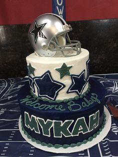 Delightful Dallas Cowboys Baby Shower Cake