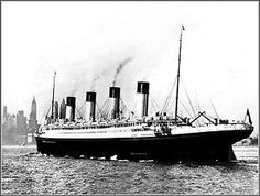 Titanic's sister ship, the Olympic, steams towards New York City- 1920s