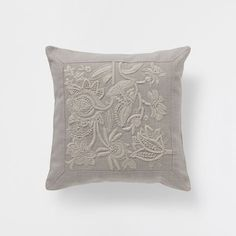 FLORAL EMBROIDERED LINEN CUSHION - Bedroom - Nordic Collection - Shop by collection | Zara Home United States