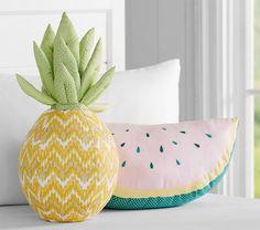 Watermelon Shaped Decorative Pillow | Pottery Barn Kids