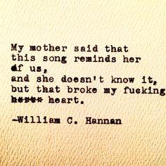 http://instagram.com/williamc.hannan https://www.facebook.com/WilliamC.HannanWriting