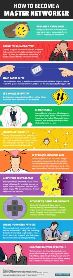 11 Ways to Become a Master Networker [Infographic] #networking #sales