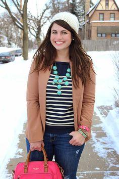 La Petite Fashionista: Winter Stripes & Coffee Dates