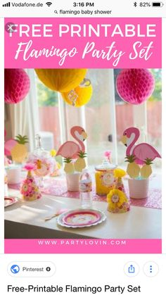Flamingos flamingling couldn't be any cuter than in this Kara's Party Ideas Flamingo + Flamingle Pineapple Party filled with darling printables and more! Flamingo Party, Flamingo Baby Shower, Flamingo Birthday, Pink Birthday, Birthday Bash, Birthday Parties, Festa Rainbow Dash, Tropical Party, Pineapple