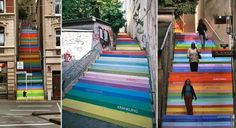 painted stairs (street art)