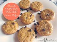 Chocolate Pumpkin Protein Muffins