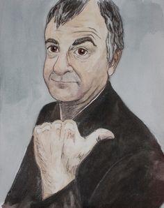 Douglas Adams by heysophiabrown, via Flickr Douglas Adams, Brown, Illustration, Design, Style, Art, Swag, Art Background, Kunst