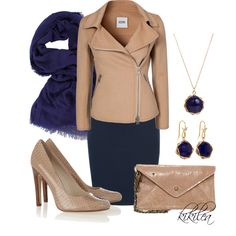 """""""Classic Navy and Taupe 2"""" by kikilea on Polyvore"""