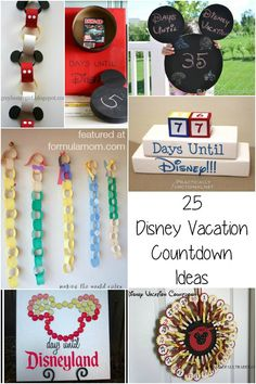 25 Disney Vacation Countdown Ideas