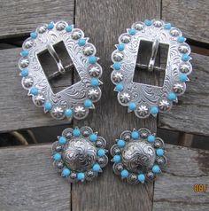 Diamond B Jewelry - Custom Made Buckle Sets  Turquoise!!