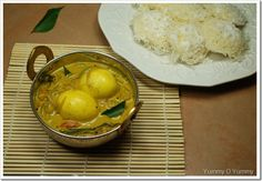 Kerala Egg Curry in Coconut Milk Egg Recipes Indian, Indian Dishes, Egg Curry, Curry Rice, Coconut Curry, Coconut Milk, Dal Recipe, Kerala Food, Desi Food