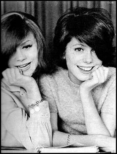 A young Catherine Deneuve with her older sister Françoise Dorléac, also an actress, who died in a car accident in 1967.